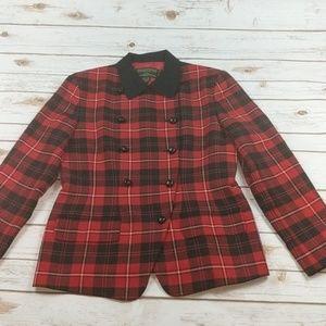 J McLaughlin For Sanyo Plaid Jacket Blazer 8
